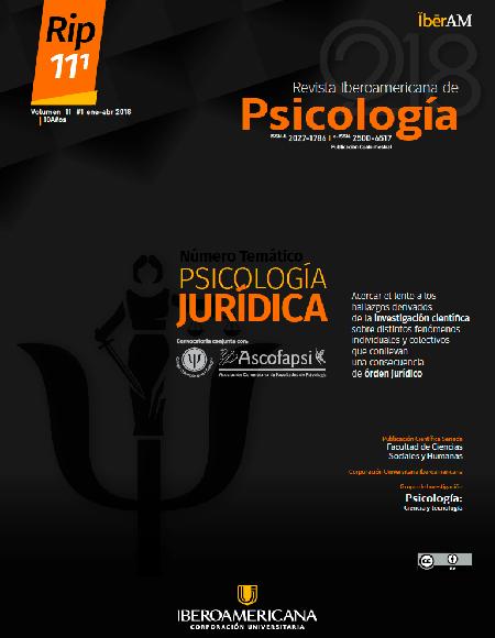 RIP 11 (1) | 2018 Psicología Jurídica