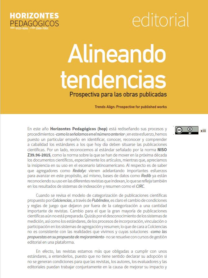 Alineando tendencias: perspectiva para las obras publicadas