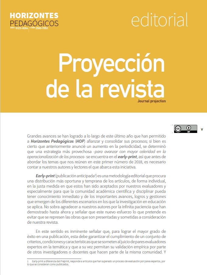 Proyección de la revista [editorial]