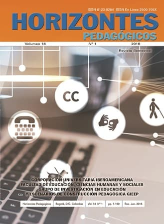 Revista Horizontes Pedagógicos Vol 18 No 1